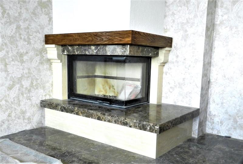 Камин с дымоходом из нержавеющей стали